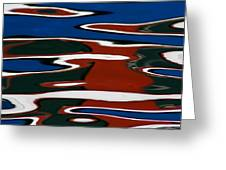 Red White And Blue I Greeting Card by Heidi Piccerelli