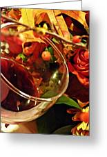 Red Wine 2 Greeting Card by Sarah Loft