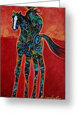 Red With Rope Greeting Card by Lance Headlee