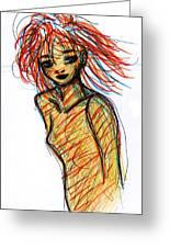 Redhead I Greeting Card by Rachel Scott
