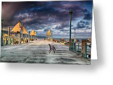 Redondo Pier Greeting Card by Joseph Hollingsworth