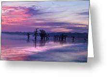 Reelfoot Lake Sunrise Greeting Card by J Larry Walker