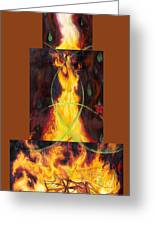 Refiners Fire Greeting Card by Anne Cameron Cutri