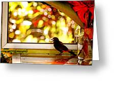 Reflecting On Beauty Greeting Card by Peggy Collins