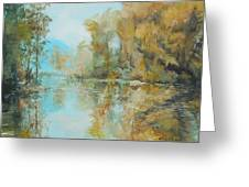 Reflecting On Reflections Greeting Card by Elizabeth Crabtree