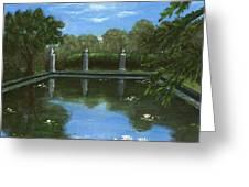 Reflecting Pool Greeting Card by Anastasiya Malakhova