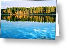 Reflections Greeting Card by Alicia Cozort