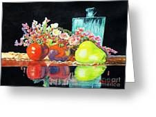 Reflections In Color Greeting Card by Kathy Braud