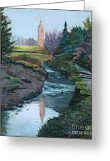 Reflections In History Greeting Card by Mary Benke