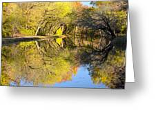 Reflections Of Autumn Greeting Card by Kathi Isserman