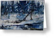 Reflections Of Winter Greeting Card by Xueling Zou