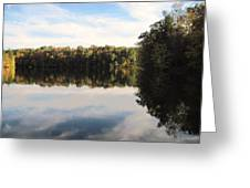Reflections On The Lake Greeting Card by Vicki Kennedy