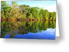 Reflections on The River Greeting Card by Debra Forand