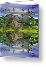 Reflective Oz Greeting Card by Betsy A  Cutler