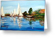 Regatta De Argenteuil Greeting Card by Karon Melillo DeVega