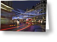 Regent Street Lights Greeting Card by Matthew Gibson