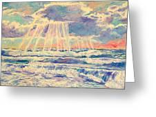 Rehoboth Light Greeting Card by Kendall Kessler