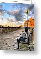 Relax And Watch The Sunset In Boston Greeting Card by Mark E Tisdale