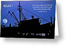 Relax Greeting Card by Mike Flynn