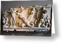 Relief Depicting Gigantomachy Greeting Card by Artur Bogacki
