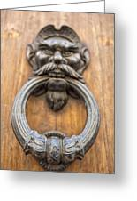 Renaissance Door Knocker Greeting Card by Melany Sarafis