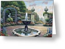 Renaissance Garden Greeting Card by John Zaccheo