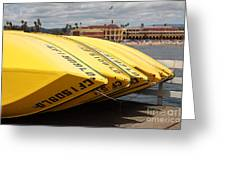 Rental Boats On The Municipal Wharf At Santa Cruz Beach Boardwalk California 5d23795 Greeting Card by Wingsdomain Art and Photography