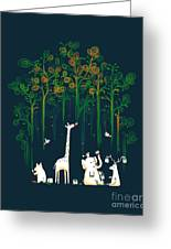 Repaint The Forest Greeting Card by Budi Satria Kwan