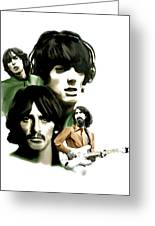 Requiem George Harrison Greeting Card by Iconic Images Art Gallery David Pucciarelli