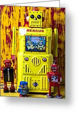 Rescue Robot Greeting Card by Garry Gay