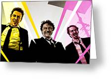 Reservoir Dogs Greeting Card by Jeremy Scott