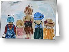 Respectively Dedicated To Childhood Greeting Card by Vicki Aisner Porter