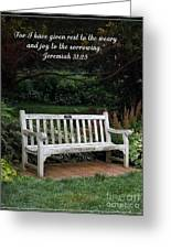 Rest For The Weary Greeting Card by Sara  Raber