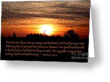 Rest In Him Greeting Card by Erica Hanel