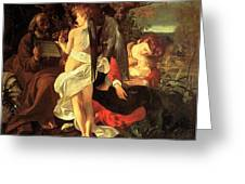 Rest On The Flight Into Egypt Greeting Card by Caravaggio