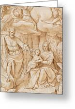 Rest On The Flight Into Egypt Greeting Card by Federico Zuccaro