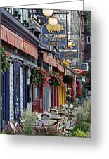 Restaurant Le Cochon Dingue In The Old Port Of Quebec City Greeting Card by Juergen Roth