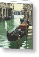Resting Gondola Greeting Card by Michael Swanson