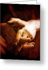 Resting Hands Greeting Card by Gun Legler