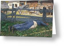 Resting In The Shade Greeting Card by Giovanni Segantini