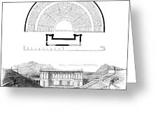 Restoration Of The Greek Theater Greeting Card by Photo Researchers