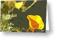 Retro Abstract Poppies 4 Greeting Card by Artist and Photographer Laura Wrede