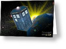 Return Of The Time Lord. Greeting Card by Ian Garrett