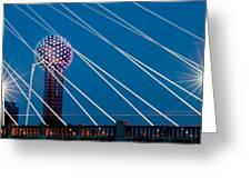 Reunion Tower Greeting Card by Darryl Dalton