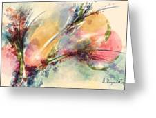 Reve Greeting Card by Francoise Dugourd-Caput