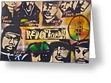 Revolutionary Hip Hop Greeting Card by Tony B Conscious