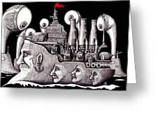 Revolutionary Ship Greeting Card by Vitaliy Gonikman