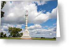 Revolutionary War Monument At Yorktown Greeting Card by John Bailey