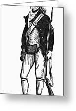 Revolutionary War Rifleman Greeting Card by Granger