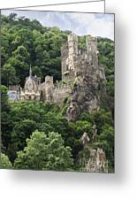 Rheinstein Castle Greeting Card by Oscar Gutierrez